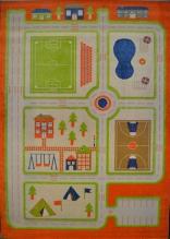 Детский игровой ковер Fulia 8c44b orange