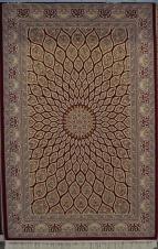 Высокоплотный ковер Turkistan 6474 d.red/l.beige